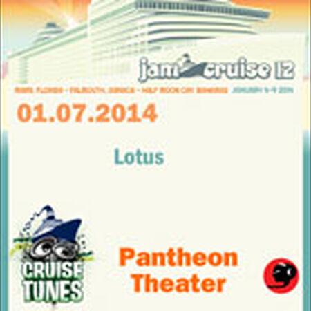 01/07/14 Pantheon Theater, Jam Cruise, US
