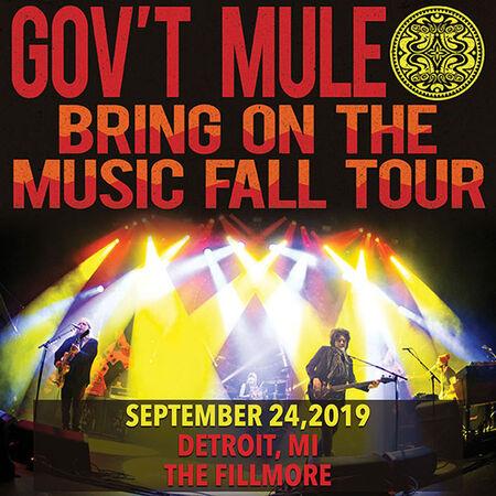 09/24/19 The Fillmore, Detroit, MI