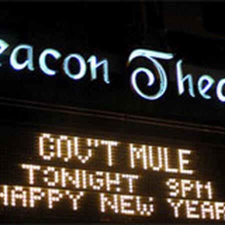 12/31/09 Beacon Theatre, New York, NY