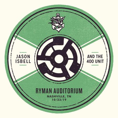 10/23/19 Ryman Auditorium, Nashville, TN