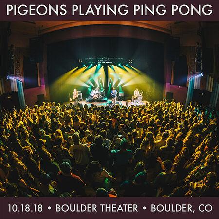 10/18/18 Boulder Theater, Boulder, CO