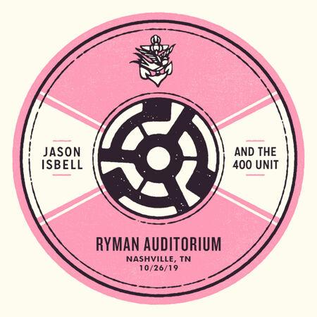 10/26/19 Ryman Auditorium, Nashville, TN