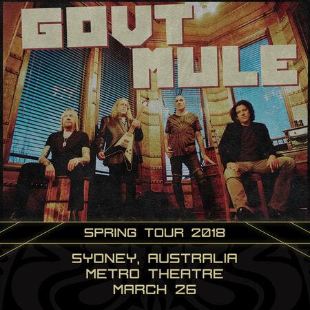 03/26/18 Metro Theatre, Sydney, AU