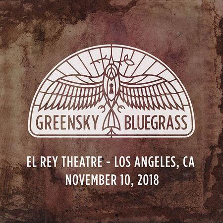 11/10/18 El Rey Theatre, Los Angeles, CA