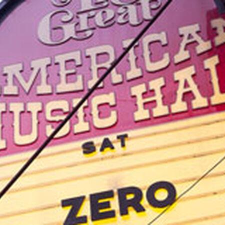 03/05/11 Great American Music Hall, San Francisco, CA