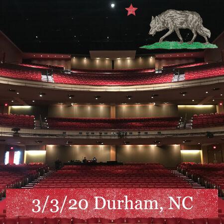 03/03/20 Durham Performing Arts Center, Durham, NC