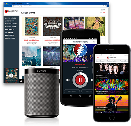 nugs net is your channel for live music streaming