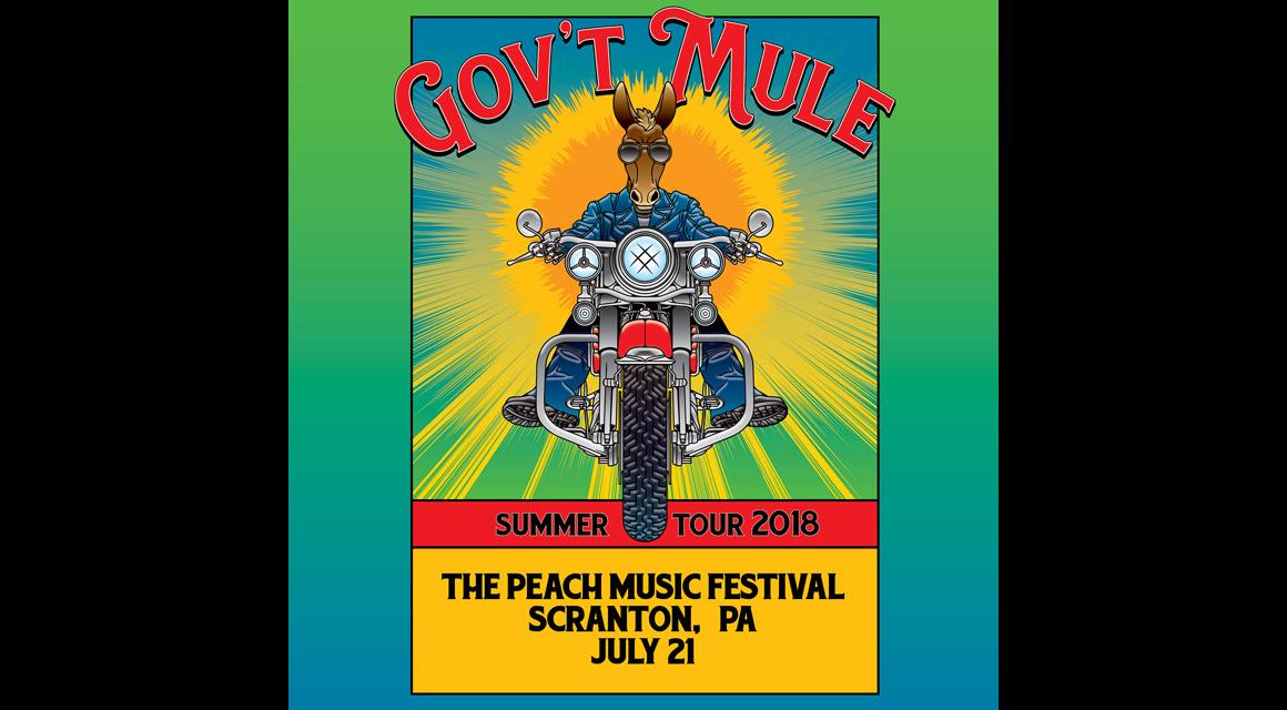 Gov't Mule online-music of 07/21/2018, Peach Music Festival